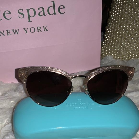 Kate Spade Pink Sparkling Sunglasses
